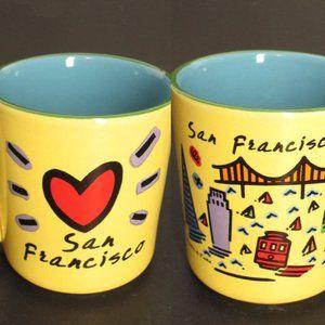 Other - San Francisco Landmarks Souvenir Coffee Mug Yellow